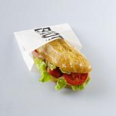 A large turkey sandwich to takeaway