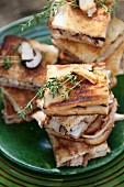 Grilled mushroom and Pancetta sandwiches