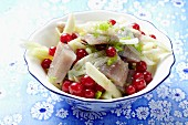Soused herring salad with fennel, redcurrants and a fig and mustard dressing