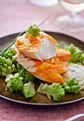Haddock with sauce tartare and romanesco broccoli