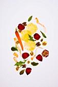 Karotten, Rote Bete und Ananas Salat