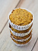 Healthy vegan pumpkin and millet muffins