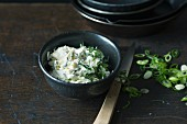 Spring onion and Gorgonzola spread with quark