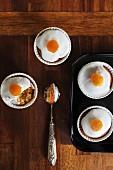 Cupcakes with orange glaze