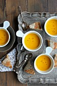 Cream of carrot soup with honey