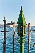 A small green tower at St Mark's Square, Venice