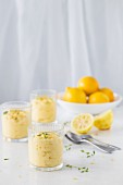 Lemon cream mousse with thyme