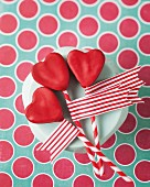 Heart-shaped cake pops