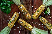 Grilled corn cobs (Mexico)