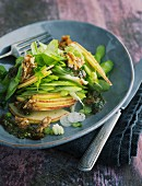 Apple and celery salad with hazelnut brittle