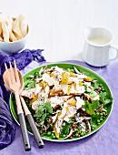 Warm chicken, mango & lentil salad