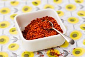 A bowl of chilli flakes