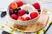 Buckwheat pudding with berries
