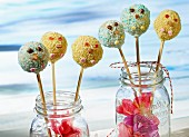 Crispy cake pops for a child's party