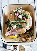 Leg of lamb with rosemary and garlic