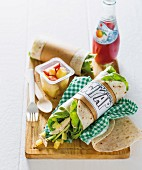 Chicken and pineapple wrap