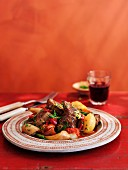 Caldereta Del Condado (braised lamb with vegetables, Spain)