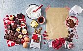 Brownies with ingredients