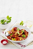Potato and corn agnolotti