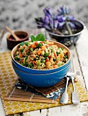 Fried rice with vegetables (Indonesia)