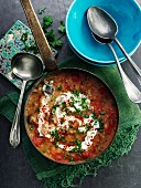 Spicy lentil soup from the Middle East
