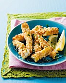 Crispy squid fish fingers