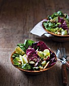 Waldorf salad with radicchio