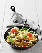 Smoked fish kedgeree with egg