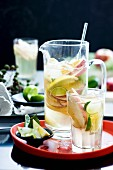 White wine sangria with fruit