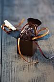A chocolate balsamic truffle