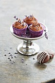 Chocolate and lavender confectionery
