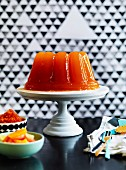 Mandarin and ruby grapefruit jelly, blood orange granita and citrus salad