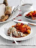 Harissa chicken with vegetables