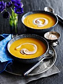 Cream of sweet potato soup (Morocco)