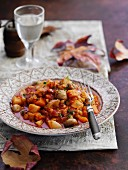 Autumnal stew with root vegetables