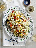 Potato salad with chopped egg