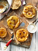 Apple tarts with maple syrup