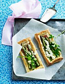 Asparagus tart with sheep's cheese