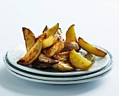 A plate of potato wedges