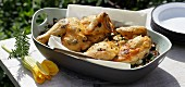 Oven-roasted herb chicken with courgettes