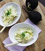 Winter radish and apple coleslaw