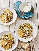 Pasta Carbonara with toasted cauliflowers and Burrata