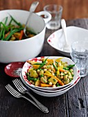 Würziger Gemüseeintopf mit Kichererbsen