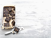 Brownies with dates and walnuts