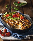 Pumpkin and aubergine bake