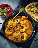 Chicken curry with prawns
