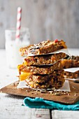 Homemade fruit and nut flapjacks
