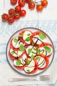 Tomato and mozzarella salad with balsamic sauce (insalata caprese)