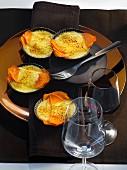 Warm crème brûlée with sweet potatoes