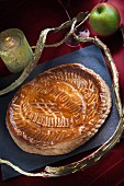 Galette des Rois with an apple filling